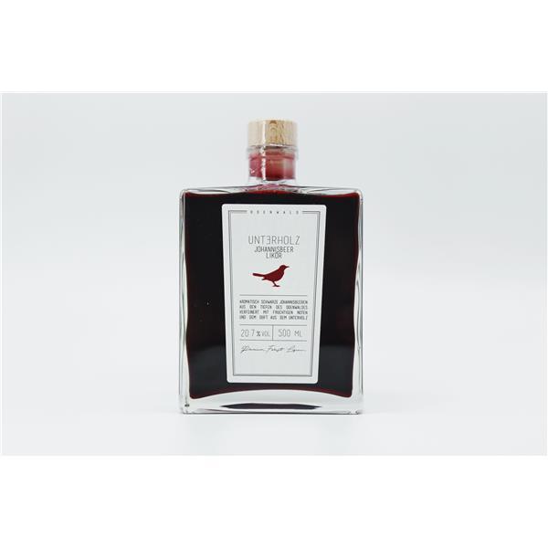 Unterholz Johannisbeer Likör Flasche 0,5l