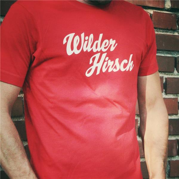 T-shirt Wilder Hirsch rot