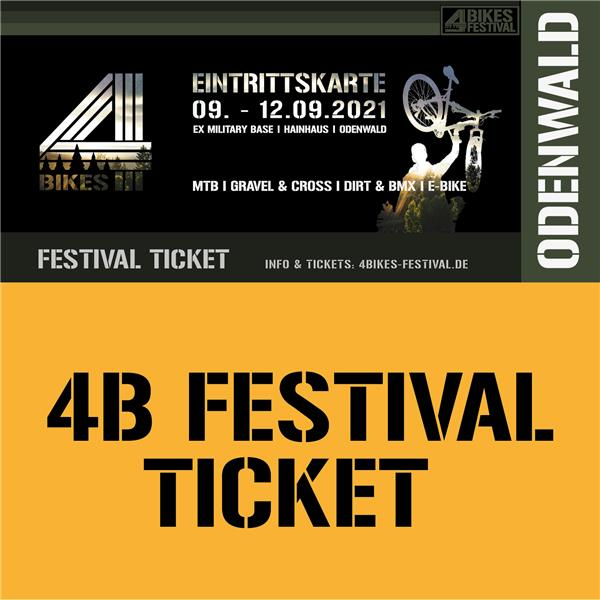 4 BIKES FESTIVAL TICKET - 4 Tage ALL IN