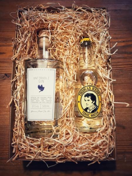 Unterholz Gin Geschenk-Box mit Thomas Henry