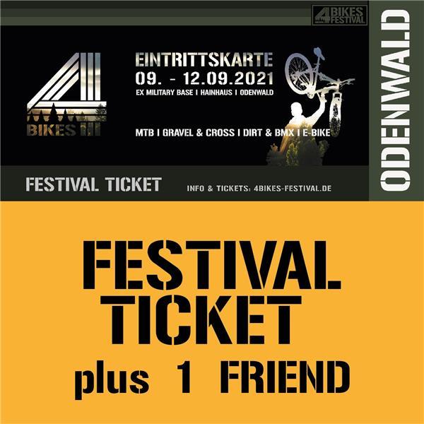4 BIKES FESTIVAL TICKET +1 FRIEND