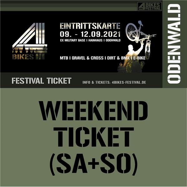4 BIKES WEEKEND TICKET (SA + SO)