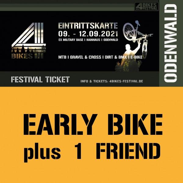 4 BIKES FESTIVAL TICKET +1 FRIEND - EARLY BIKE (PREISSTUFE 2)
