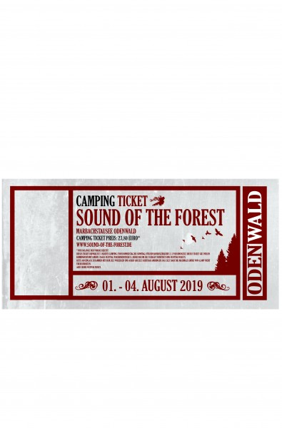 CAMPING SILENT (ehem. B) Zeltticket (bis 3 Personen) Sound of the Forest 2019