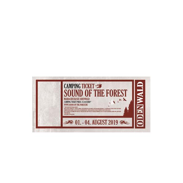 CAMPING SEE (ehem. A) Zeltticket (bis 3 Personen) Sound of the Forest 2019