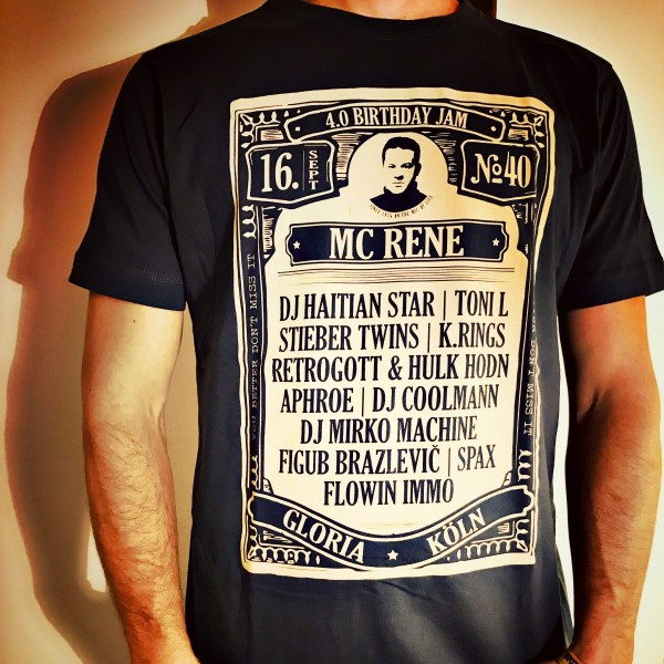 MC Rene Birthday Jam Shirt 2016