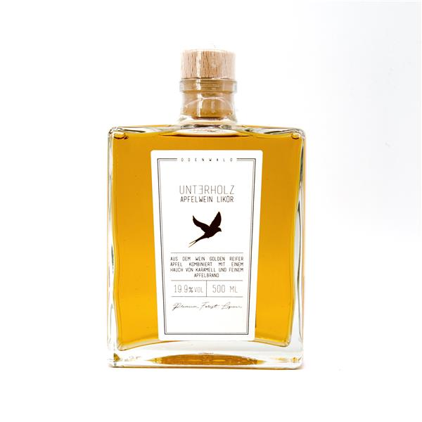 Unterholz Apfelwein Likör 0,5l Flasche
