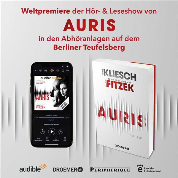 """Thriller-Weltpremiere von """"Auris"""": ORIGINAL Hörbuch und Buch nach einer Idee von Sebastian Fitzek"""